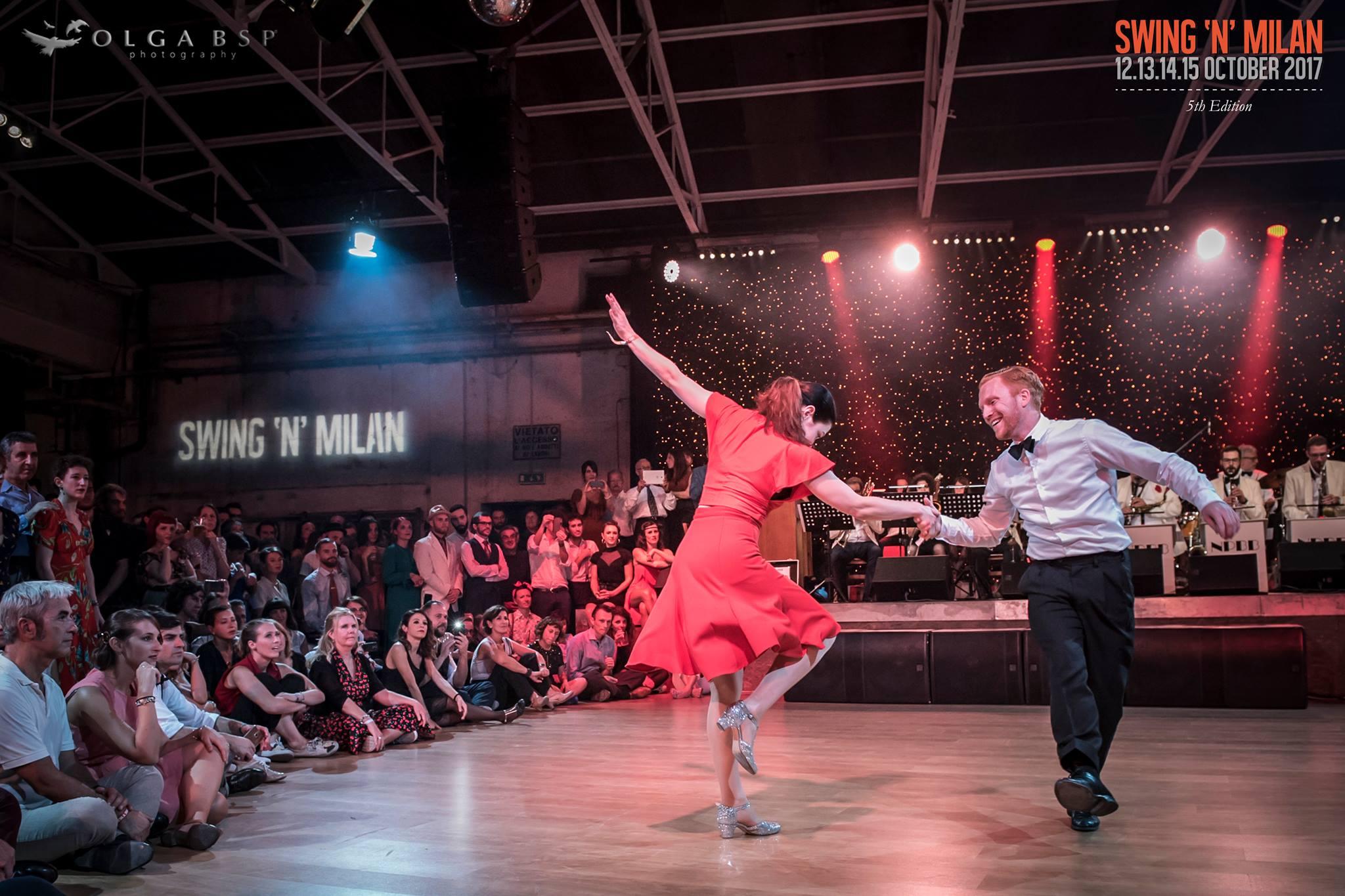 Sharon Davis & Tony Jackson dancing Lindy Hop in Milan