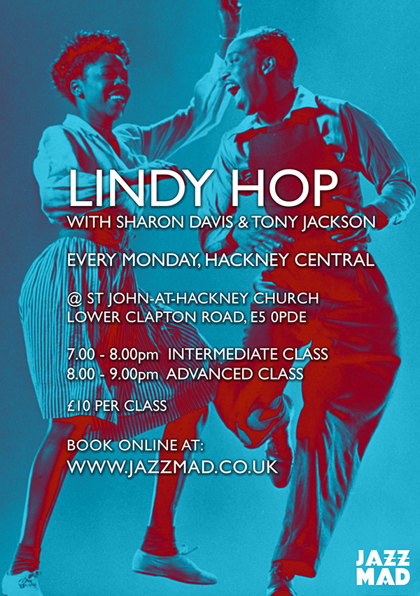 Lindy Hop Mondays with Sharon Davis & Tony Jackson
