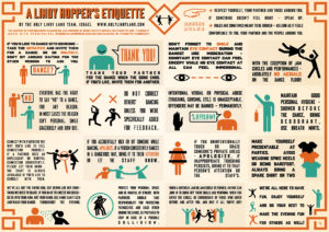 Lindy Hop Etiquette Infographic by Holy Lindy Land