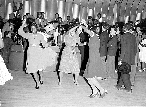 Two women dancing together in the Savoy Ballroom, Harlem New York 1940s | Lindy Hop | Jitterbug | Swing Dance